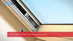how to install keylite solar blinds youtube