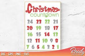 christmas countdown calendar christmas countdown calendar template design bundles