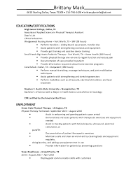 Sample Resume For Physical Therapist Assistant by Pta Cover Letter Pta Resume Massage Resume Massage Therapist