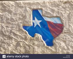 Texas State Flag Image Outline Of The State Of Texas Is Filled In With The Lone Star Flag