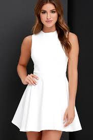 loving dresses ivory dress skater dress funnel neck dress 49 00