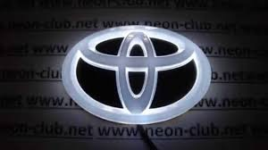 toyota camry logo tuning auto accessories car decal 4d toyota emblem led lights