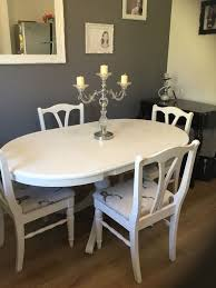 ducal upcycled drop leaf dining table and chairs in kingswood