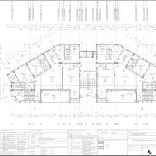 duplex floor plan ah residential building working drawing typical duplex floor