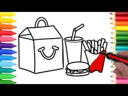 how to draw coloring pages how to draw happy meal coloring pages kids learn drawing art