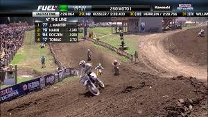 motocross race fuel lucas oil pro motocross battle for the lead 250 moto 1 at unadilla