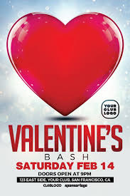 valentine u0027s bash free flyer template download free psd for photoshop