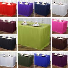 tablecloth for 6 foot table rectangular fitted polyester tablecloth 6 feet table dinner wedding