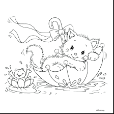 kitten coloring pages print free adults unbelievable cute