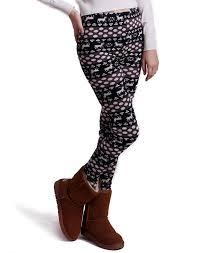 hde women winter knit leggings fleece line nordic design thermal