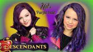 mal hair guys i dyed my hair purple my awesome mom and i transform into mal