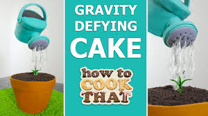 gravity defying watering can cake how to cook that reardon