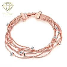 bracelet luxury charms images Artificial jewellery online 2017 luxury fashion rose gold color jpg