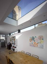 skylight design alternative to flat roof of structural glass is a huge skylight