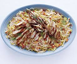 noodle salad recipes asian chicken and rice noodle salad recipe finecooking