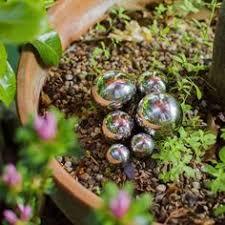 9cm stainless steel mirror sphere garden feature gardening