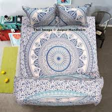 Pillow And Duvet Set Indian Mandala Bedding Set Queen Bed Cover With Matching Pillows