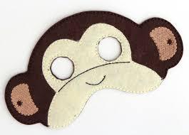 kids monkey mask monkey costume felt mask kids face mask