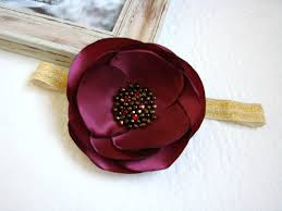 burgundy headband babygirl burgundy headbandbaby hairflowers flowerheadband