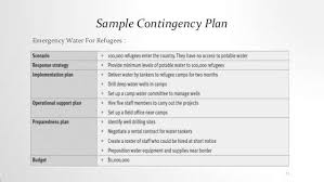 sample business contingency plan contingency plan 1