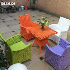 Rattan Patio Table And Chairs Pe Rattan Outdoor Furniture Home Design