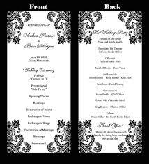 tea length wedding program template wedding program template tea length damask instant