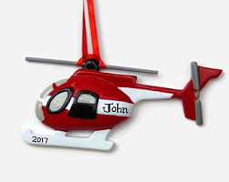 helicopter ornament etsy