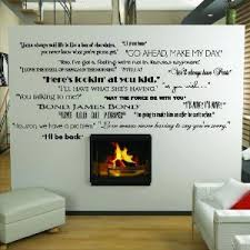 Wall Quotes For Living Room by Amazon Com Classic Movie Quotes Wall Saying Vinyl Lettering Home