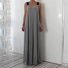 maxi bureau vintage gris maxi longue robe couture lâche robes automne