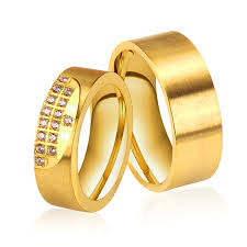 wedding ring brand online shop new gold color wedding rings stainless steel