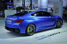 subaru coupe 2014 subaru wrx concept is dynamically aggressive and powerful