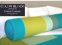 queen bed pillows michael miller cotton couture color block queen bolster pillow