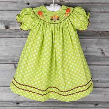smocked thanksgiving bishop green polka dot smocked auctions