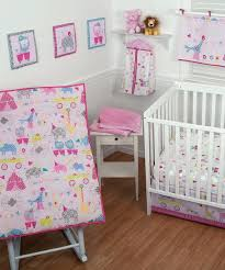 Circus Crib Bedding Decoration Circus Nursery Bedding Pink Crib Set Baby Circus