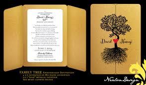 nealon design family tree anniversary invitation