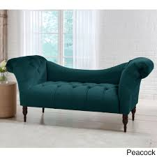 Cloth Chesterfield Sofa by Skyline Furniture Mystere Velvet Fabric Chesterfield Loveseat Ebay