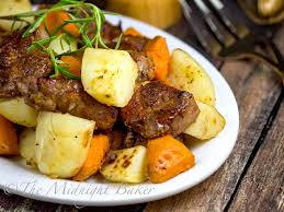 slow cooker maple roasted pork with potatoes the midnight baker