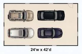 Four Car Garage Plans 24wx42d4car4 Jpg