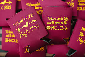 koozies for wedding customized koozies wedding favor ideas