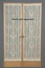 Sheer Door Curtains United Curtain Company Batiste Semi Sheer Door Panel Atg Stores