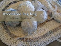 Crochet A Rag Rug Hill House Homestead Crocheted Rag Rug