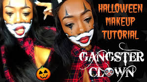 halloween makeup gangster clown youtube