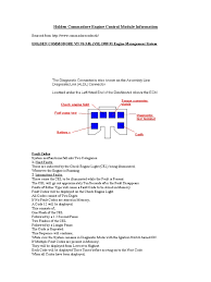 holden commodore engine control module information ignition