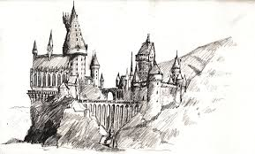 drawn castle harry potter pencil and in color drawn castle harry