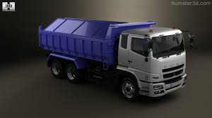 mitsubishi fuso dump truck 360 view of mitsubishi fuso super great dump truck 3 axle 2007 3d