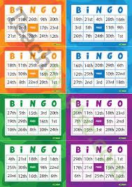 ordinal numbers bingo cards teaching resource u2013 teach starter
