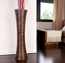 Decorative Vases For Living Room by Brown Tall Floor Vase 36 Inches Wood Brown Leewadee