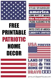 patriotic home decorations free printables patriotic usa home decor for 4th of july