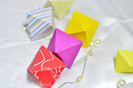 diy geometric paper ornaments for