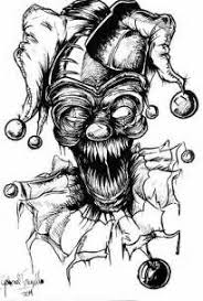coloring pages of scary clowns original kyo jaidee wings by sayael deviantart com on